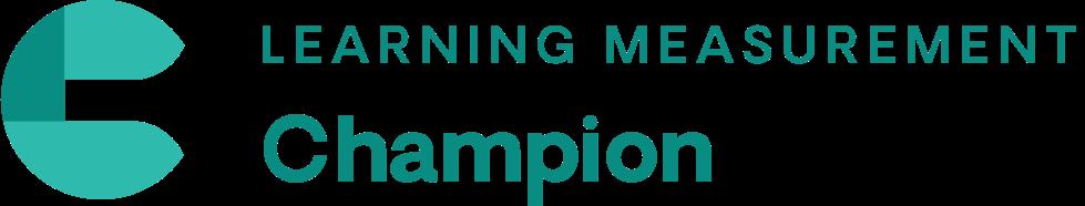 Learning Measurement Champion Certification Training